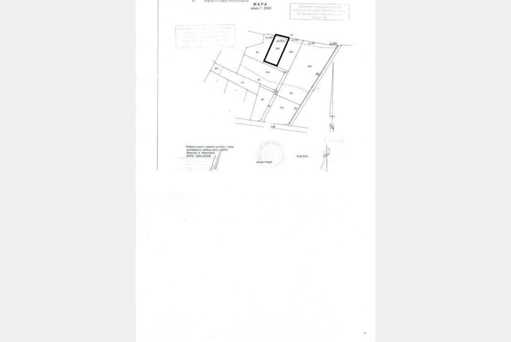 Działka na sprzedaż o pow. 1908 m2