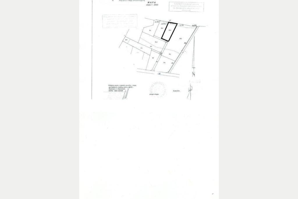 Działka na sprzedaż o pow. 1870 m2